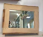 Specchio in legno artigianale 87x67 cm