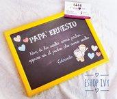 Idea regalo festa del papà lavagnetta personalizzata con nome e frase