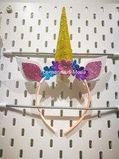 Cerchietto modello unicorno