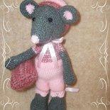 Pupazzo Topolina Amigurumi giocattolo o decorazione.