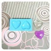 Stampo in silicone LUCIDO cabochon cuore Misura MEDIUM per gioielli, per resina trasparente, gesso