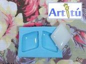Stampo cabochon rombo, stampo in silicone lucido per realizzare gioielli, orecchini, collane, stampo per resina