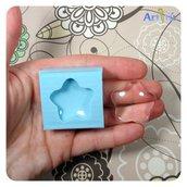 Stampo fiore - stella MEDIUM cabochon, stampo per gioielli, stampo in silicone per resina, gesso, paste modellabili
