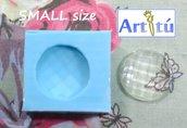 Stampo in silicone gemma tonda misura Medium per resina trasparente