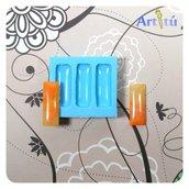 Stampo in silicone LUCIDO cabochon rettangolo allungato per gioielli, per colata in resina trasparente, gesso, collana orecchini bracciali