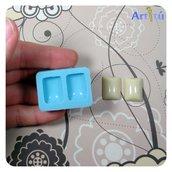 Stampo in silicone LUCIDO cabochon rettangolo per gioielli, per colata in resina trasparente, gesso, collana orecchini bracciali