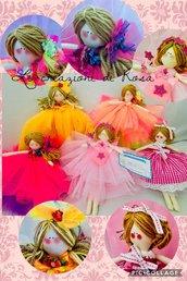 Bambolina personalizzata fatta a mano