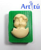 Stampo in silicone pulcino di Pasqua, soggetto originale 100%  hanmdade, stampi per resina gesso paste sintetiche ecc