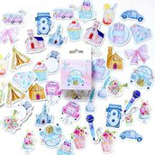 "LOTTO 45 stickers adesivi in carta ""Creative kawaii"" (da 1 a 3 cm)"