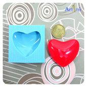 Stampo in silicone cabochon cuore EXTRA BIG per gioielli, portachiavi, resina trasparente, inclusioni