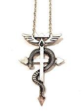 Fullmetal Alchemist Collana Simbolo Alchemico Edward Elric Manga Croce Serpente