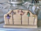 Portachiavi in legno dipinto By Creazioni GiaRó  Ⓒ