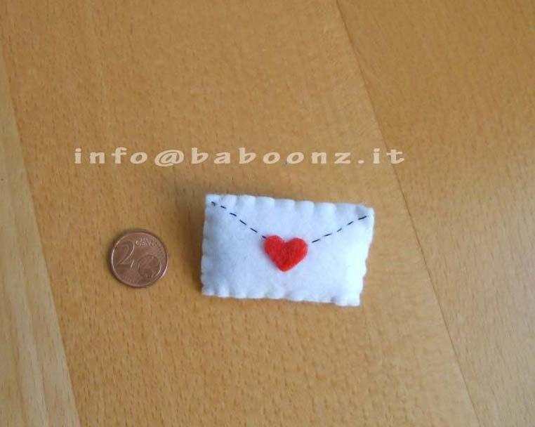 Spilla lettera d'amor