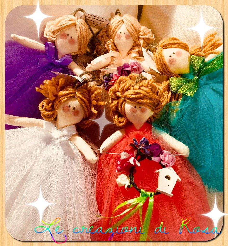Bambola stoffa tulle
