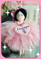 Bambola ballerina stoffa