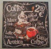 Quadro mosaico passione per il caffè con cornice a giorno misura 25x25