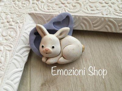 Stampo coniglietto in gomma siliconica atossica