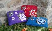 Pochette portatrucco o portadocumenti linea Floral