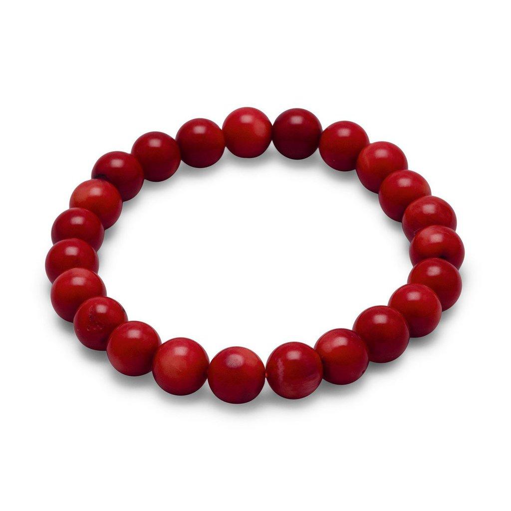 Bracciale uomo donna in corallo rosso chakra cristalloterapia