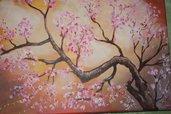 Quadro pittura acrilica primavera