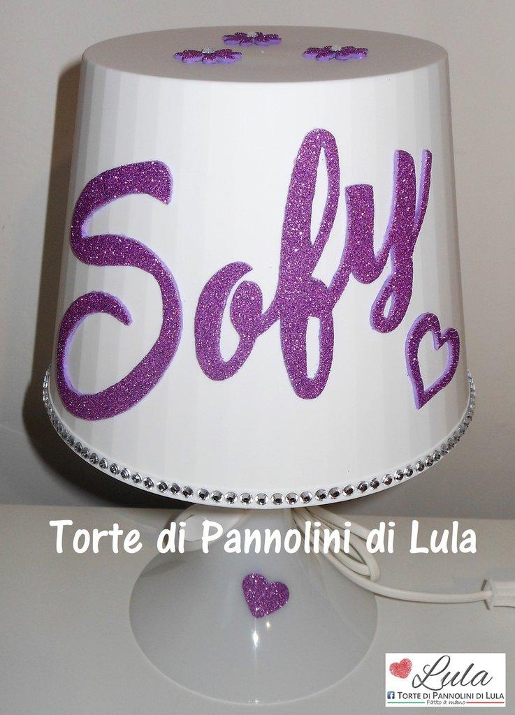 Lampada Da Tavolo Nome Personalizzabile Idea Regalo Originale Nata Su Misshobby