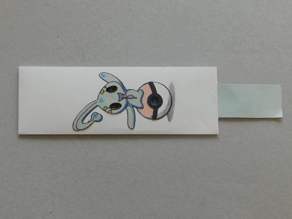 cartamodello segnalibro cartoncino con movimento scorrevole mod.pokemon