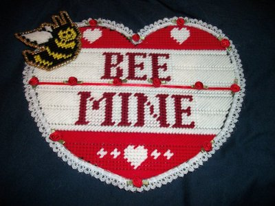 "Handmade ""Bee Mine"" Wall Hanging"