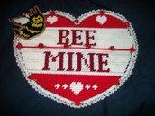 "Handmade ""Bee Mine"" Wall Hanging"