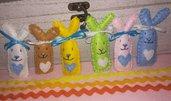 Coniglietti pasquali soffici e colorati