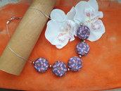 Collana girocollo primavera floreale e perle cerate
