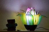 """Lampada da Tavolo """"Fiore riflesso nell'acqua"""" /spedizione gratis"""