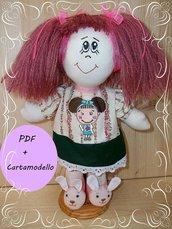 Cartamodello bambola di pezza. Lezione acconciatura per bambole.