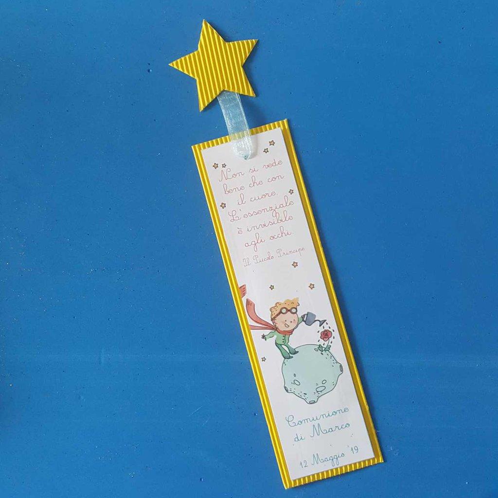 Segnalibro Piccolo Principe Personalizzabile con nastro e tag stella