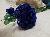 Rose di perline,fiori realizzati con perline,regalo per lei,san valentino,flower beads,fiori composizioni floreali