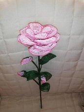 peonia di perline,fiori di perline,composizioni floreali,