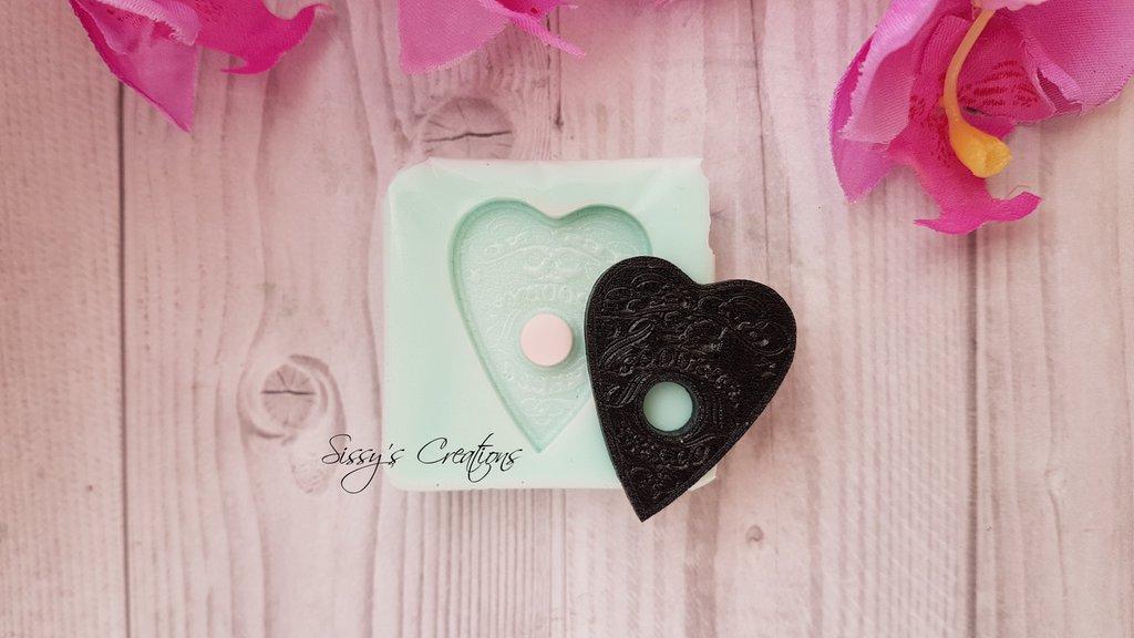 Stampo mini Ouija Planchette, 3 cm, ideale per Resina e Paste Polimeriche5