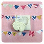 Stampo per dolci piedini bebé nascita neonato, stampo per cioccolato, pasta di zucchero, caramelle, ghiaccio, ecc..