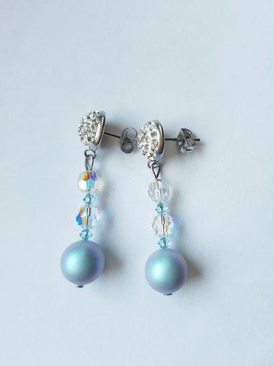 Orecchini pendenti Crystal Light Blue