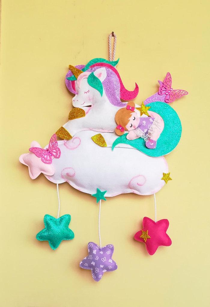 Fiocco nascita, dolce unicorno, 50 x 34 cm
