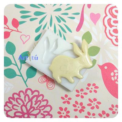 Stampo in silicone per alimenti sagoma coniglio per Pasqua, per cioccolato, decorazioni in pasta di zucchero