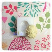 Stampo in silicone per alimenti uovo di Pasqua con fiori