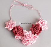 Collana kanzashi colore rosa 1.6