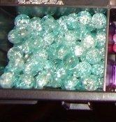 perle crackle 8mm azzurre