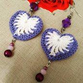Orecchini cuore bicolore