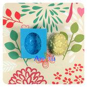 Stampo in silicone uovo di Pasqua decorato con fiori, stampo per gesso, ceramica a freddo, resina, pasta al mais