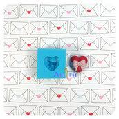 Stampo in silicone cuore con fiocco originale handmade per decorazioni in resina, gesso