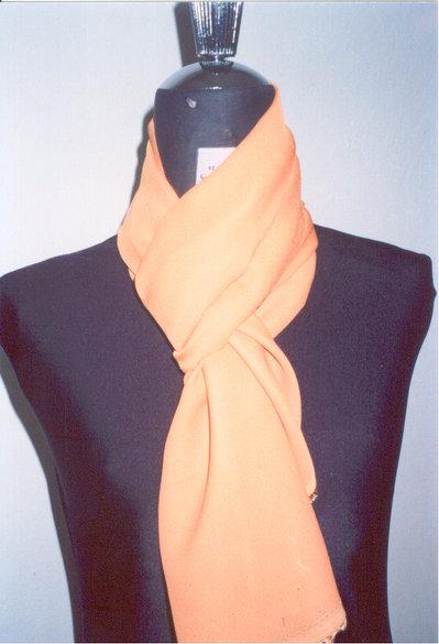 sciarpina georgette arancio