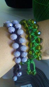 Bracciali con pietre colorate