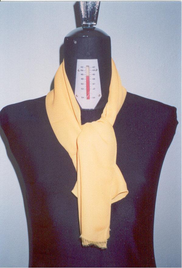 sciarpina georgette colore giallo sole
