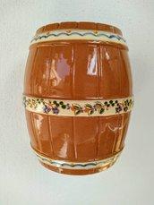 Portabottiglie di ceramica decorato a mano